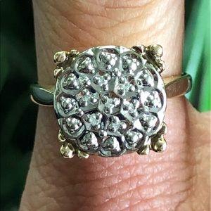 Vintage 10k Gold Diamond Cluster Cocktail Ring